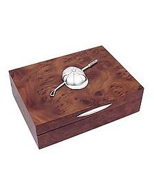 Boîte à bijoux en bois décoré et argent style équestre - Forzieri