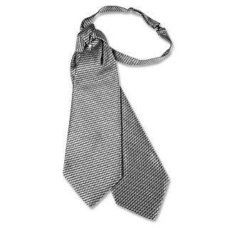 Forzieri Silver & Dark Grey Double Tail Plastron