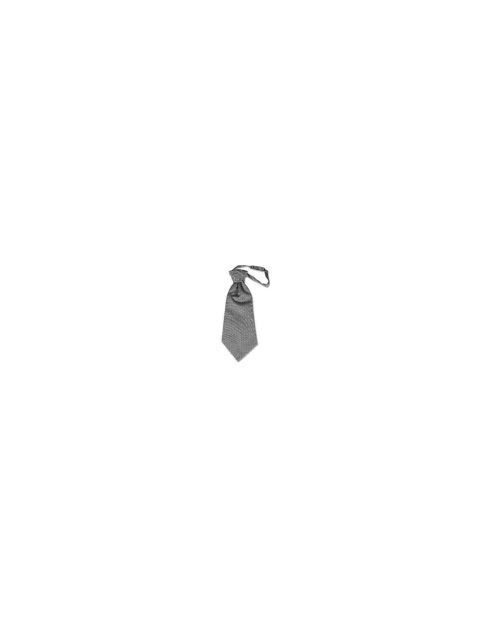 Forzieri Bowties and Cummerbunds, Silver Mono Tail Plastron