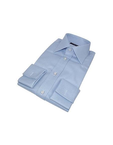 Foto Forzieri Portofino - camicia celeste realizzata a mano con polsini gemelli Camicie
