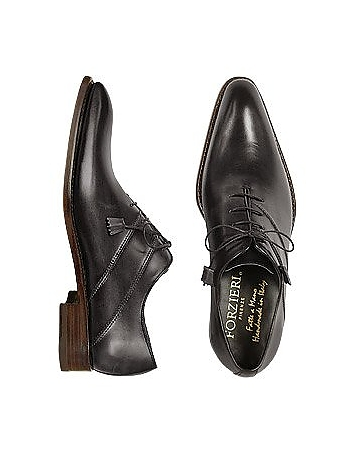 Black Italian Handcrafted Leather Oxford Dress Shoes