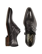 Lux-ID 208496 Black Italian Handcrafted Leather Oxford Dress Shoes