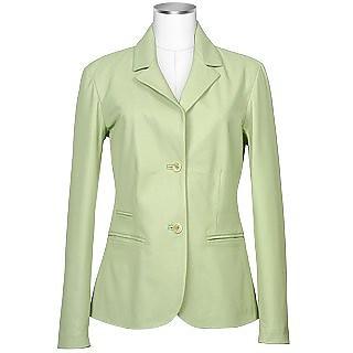 Women's Pistachio Italian Genuine Leather Blazer  - Forzieri