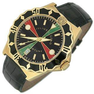 Sea Fortune Diver - 18K Gold and Leather Watch