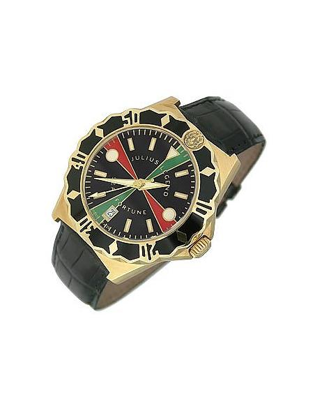 Sea Fortune Diver - Montre en or 750/1000 et cuir