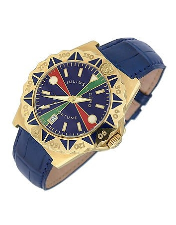 Julius Legend - Sea Fortune - 18K Gold and Leather Watch