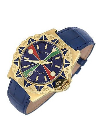Sea Fortune - 18K Gold and Leather Watch - Julius Legend