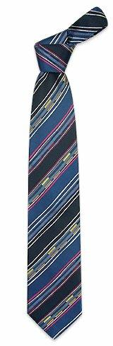 Kenzo  Multi-color Bands and Lines Woven Silk Tie