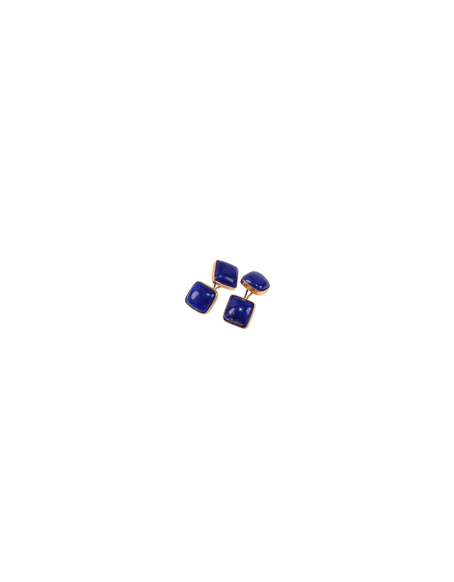 Gemelli in Oro con Lapislazzuli Blu