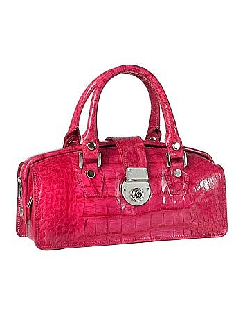 Hot Pink Croco-embossed Mini Doctor Style Bag