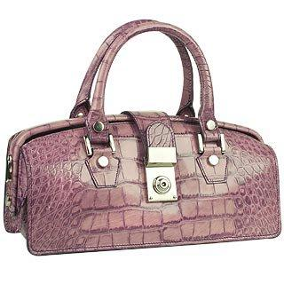 Lilac Croco-embossed Mini Doctor Style Bag