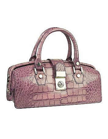 L.A.P.A. - Lilac Croco-embossed Mini Doctor Style Bag