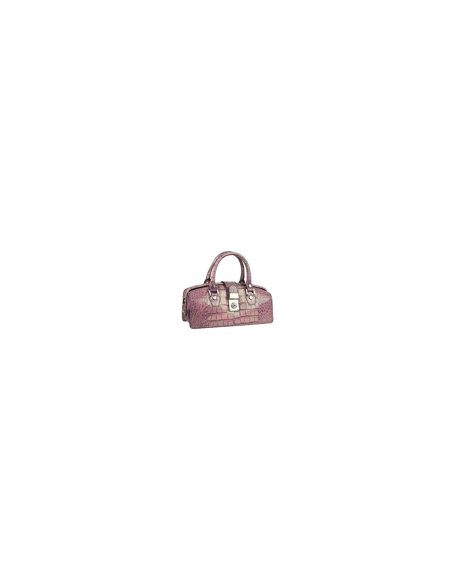 L.A.P.A. Handbags, Lilac Croco-embossed Mini Doctor Style Bag