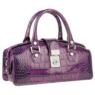 Violet Croco-embossed Mini Doctor Bag
