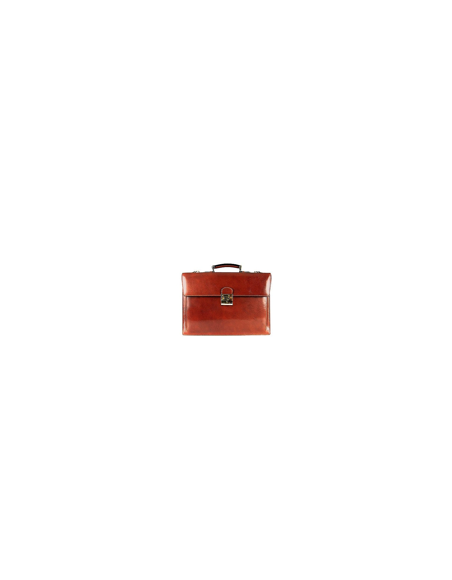 L.A.P.A. Briefcases, Classic Cognac Leather Briefcase