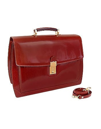 L.A.P.A. - Cognac Leather Briefcase