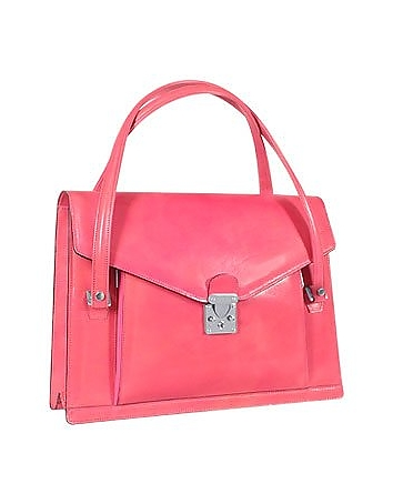 Double Gusset Women's Leather Briefcase