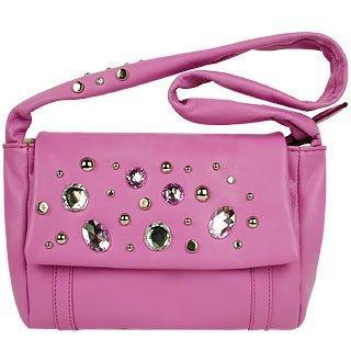 Maschera  Cyclamen Pink Sparkling Rhinestone Evening Bag
