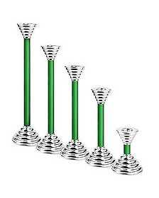 Luce - Green Murano Glass and Sterling Silver Candleholder - Masini