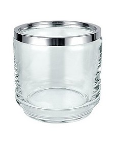 Glass and Silver Ice Bucket - Masini