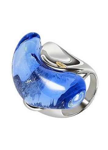 Vanita' - Blue Murano Glass Stone Ring - Masini