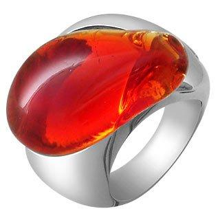 Vanita' - Red Murano Stone Silver Ring