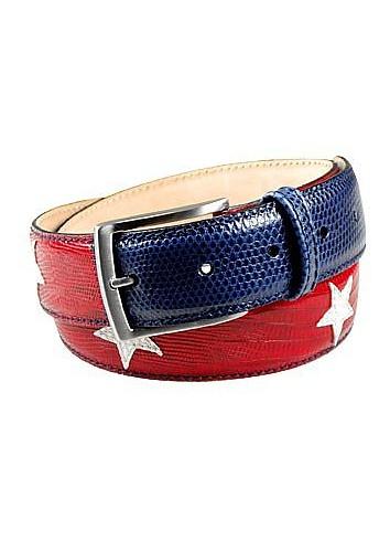 Cinturón Cuero Barras y Estrellas - Manieri