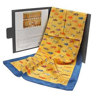 Italian Art Factory Milano The Siena Palio Printed Satin Long Scarf