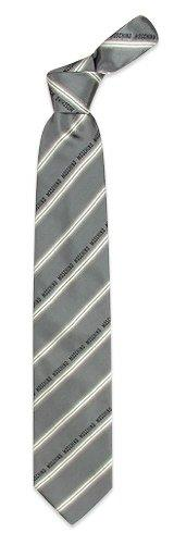 Moschino  Gray Logoed Stripes Woven Silk Tie