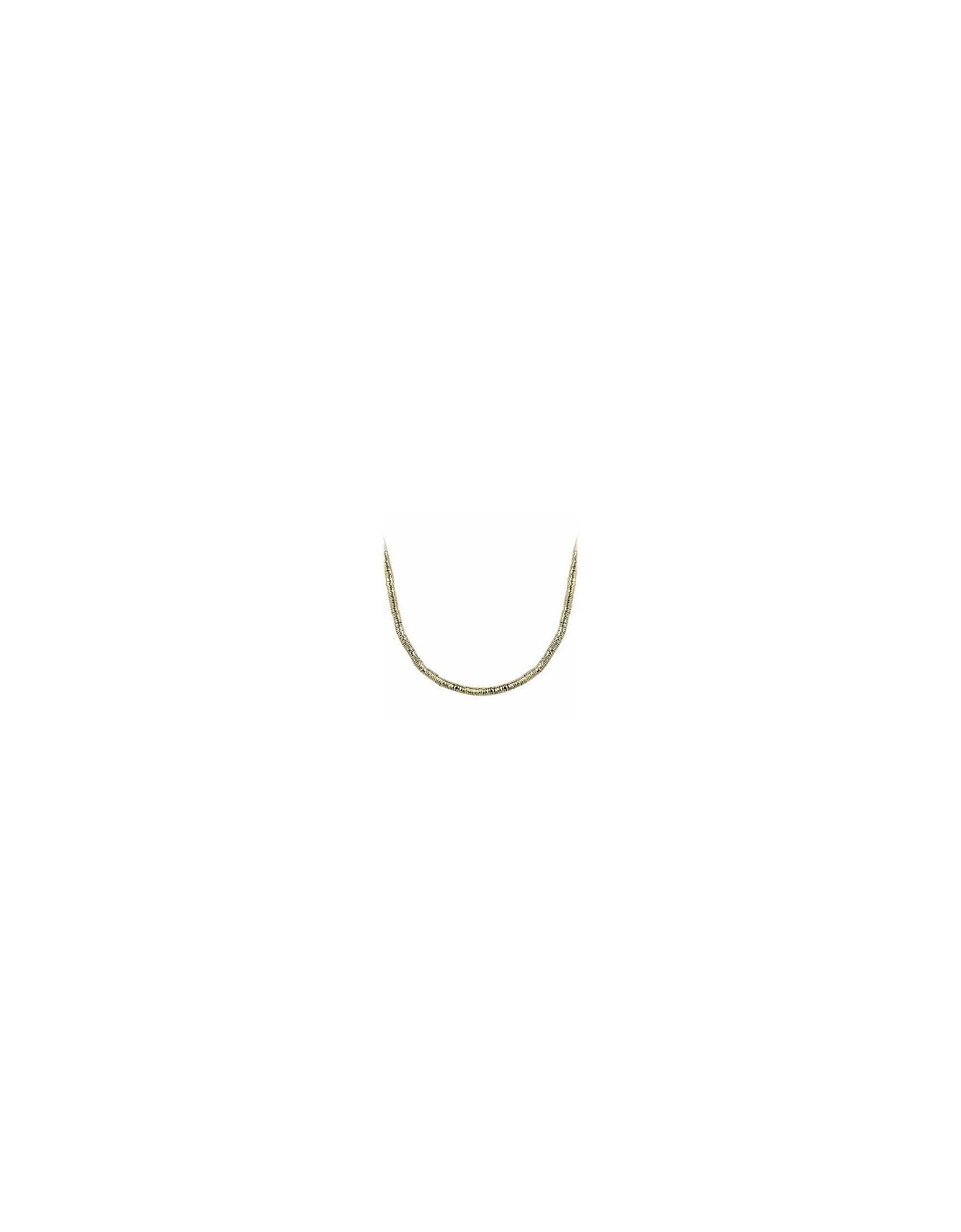 Orlando Orlandini Men's Necklaces, Gold Plate Rubber Necklace