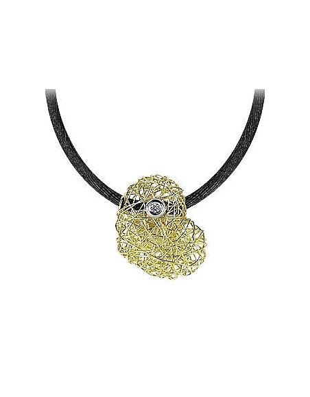 Orlando Orlandini Arianna - Pendentif coeur or 750/1000 avec diamant