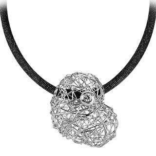 Arianna - 18K White Gold Heart Pendant w/Diamond