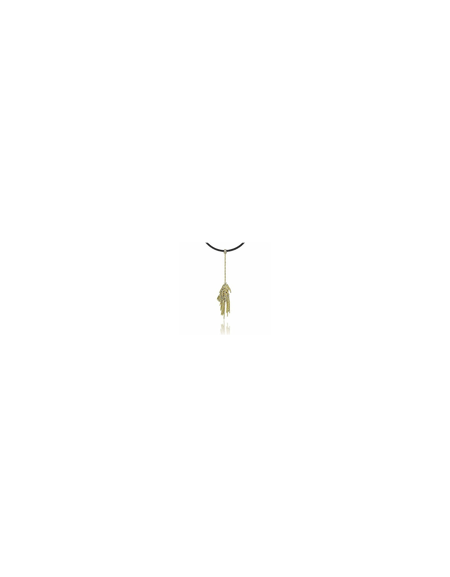 Orlando Orlandini Necklaces, Flirt - 18K Gold Drop Pendant w/Diamond