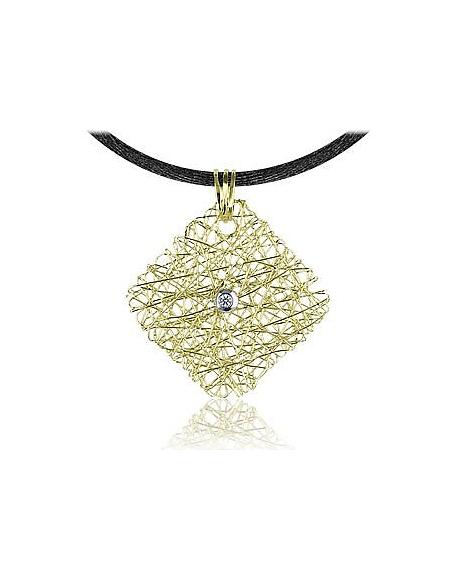 Foto Orlando Orlandini Pendente in oro giallo 18ct con diamante centrale Collane