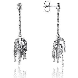 Orlando Orlandini  Flirt - 18K Gold Drop Earrings w/Diamond