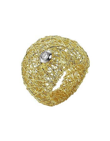 Foto Orlando Orlandini Arianna - Anello in oro giallo con diamante Anelli