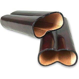 Pelletterie Fiorentine  Mahogany Leather Cigar Holder