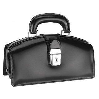 Pratesi Black Italian Calf Leather Mini Doctor Style Bag w/ Lighting