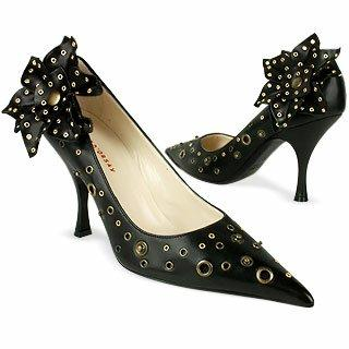 Quai D'Orsay Fleur pression - Chaussures escarpins en cuir italien et d�tails noirs qo43115-004-10