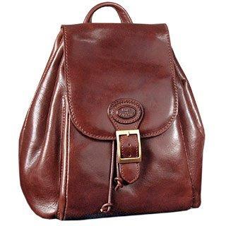 Foto der Handtasche Robe di Firenze Brauner Rucksack aus Leder