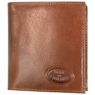 Robe di Firenze Brown Leather Men's Breast Coat ID Wallet