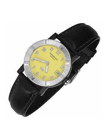 Raymond Weil - Parsifal W1 - Women's Yellow Stainless Steel & Leather Date Watch
