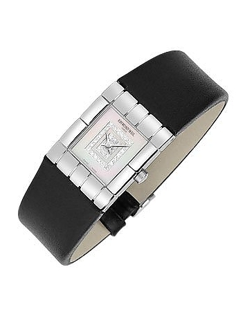 Raymond Weil - Tema - Ladies' Double Diamond River Leather Watch