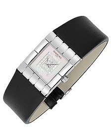 Tema - Ladies' Double Diamond River Leather Watch - Raymond Weil