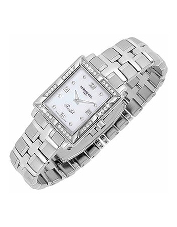 Raymond Weil - Parsifal - Ladies' Diamond Frame Mother of Pearl Date Watch