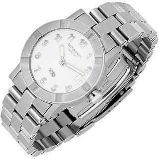 Parsifal W1 - Women's White Dial Stainless Steel Date Watch Better Quality than Blue Nile Diamonds