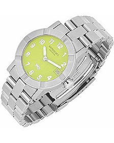 Parsifal W1 - Women's Lime Dial Stainless Steel Date Watch - Raymond Weil