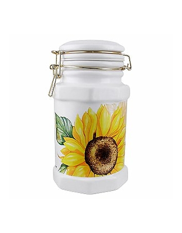 Spigarelli - Sunflower Airtight Seal Ceramic Canister