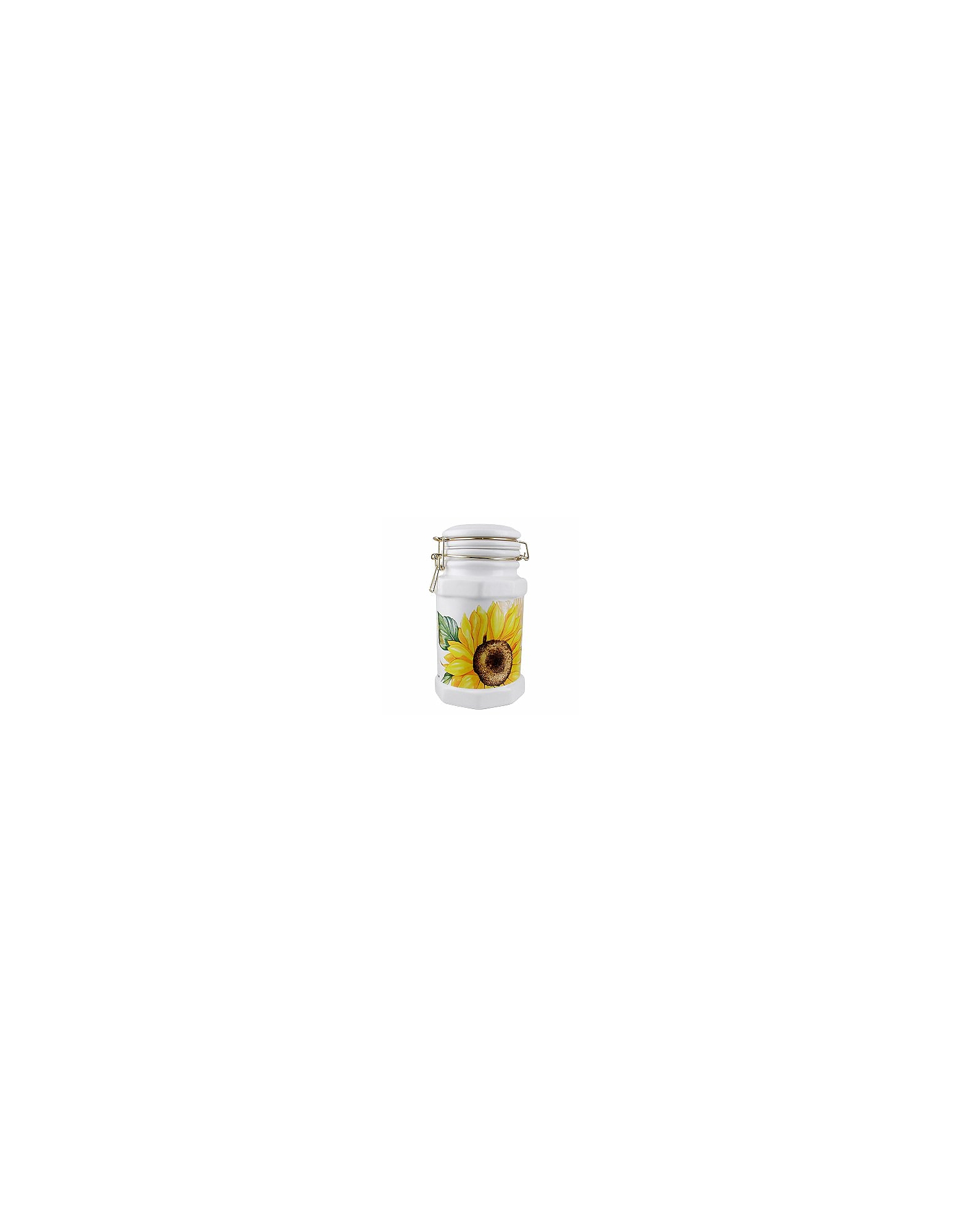 Image of Spigarelli Designer Kitchen & Dining, Sunflower Airtight Seal Ceramic Canister