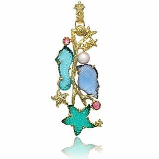 Marina Collection - Tourmaline & 18K Gold Pendant - Tagliamonte